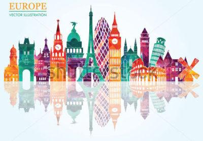 Europa-Spiegelbild
