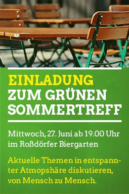 GRÜNER Sommertreff im Roßdörfer Biergarten - Offene Diskussionsrunde